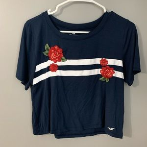 hollister cropped tee